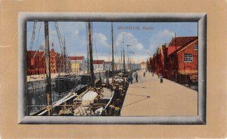 Ansichtkaart Maassluis Haven 1922 Binnenvaart schepen HC2267