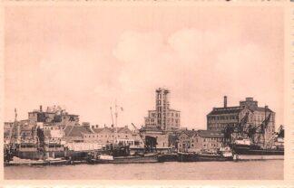 Ansichtkaart Velsen Papierfabriek Binnenvaart schepen HC2272