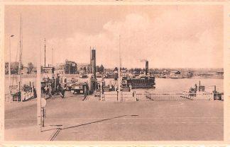 Ansichtkaart Velsen Vertrek van de Pont Veer Binnenvaart schepen HC2273