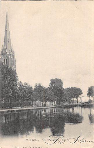 Ansichtkaart Weesp R.C. kerk en Sluis 1906 Nauta 1685 HC2280