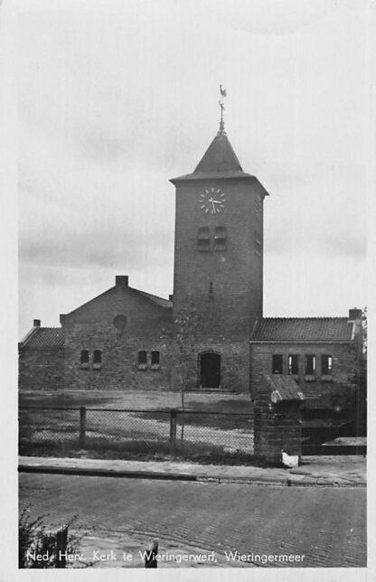 Ansichtkaart Wieringerwerf Ned. Hervormde Kerk Wieringermeer 1948 HC2287