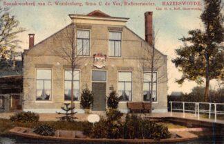 Ansichtkaart Hazerswoude 1909 Boomkweekerij van C. Wezelenburg, firma C. de Vos HC2316