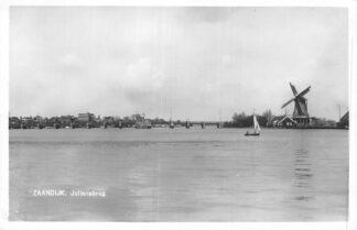 Ansichtkaart Zaandijk 1963 Julianabrug met molen HC2325