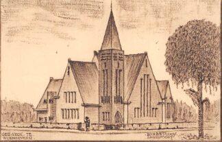 Ansichtkaart Wormerveer Gereformeerde Kerk Arch. B.W. Plooy Amersfoort HC2327
