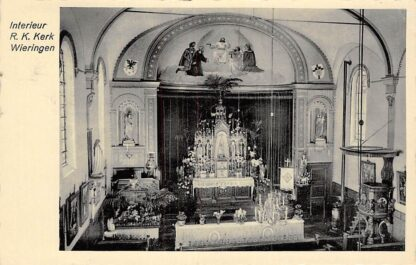 Ansichtkaart Wieringen 1935 Interieur R.K. Kerk HC2328
