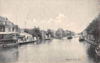 Ansichtkaart Alphen aan den Rijn 1910 Rijn met stoomschip Binnenvaart schepen HC2341