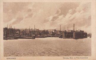 Ansichtkaart IJmuiden Haven Dok en Visschersvloot Schepen HC2347