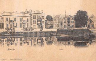 Ansichtkaart Almelo Haven met schepen HC2371