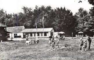 Ansichtkaart Dalfsen 1963 Speelweide met kantine en terras Camping De Boskamp HC2374