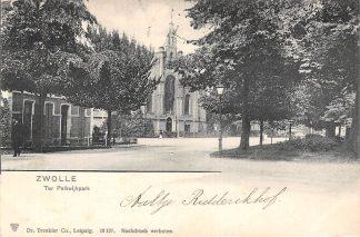 Ansichtkaart Zwolle Ter Pelkwijkpark met kerk 1905 HC2411
