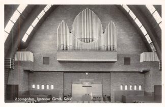 Ansichtkaart Appingedam Interieur Gereformeerde Kerk Orgel en preekstoel 1956 HC2445