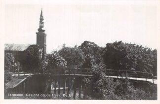Ansichtkaart Farmsum Gezicht op de Hervormde Kerk 1949 HC2448