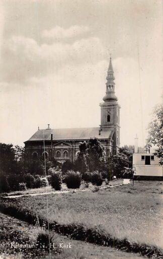 Ansichtkaart Farmsum Ned. Hervormde Kerk 1946 HC2475