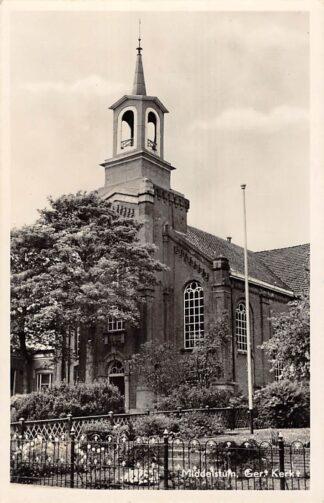 Ansichtkaart Middelstum Gereformeerde Kerk 1955 HC2479