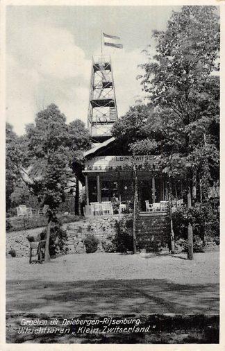 Ansichtkaart Driebergen Rijsenburg Uitzichttoren Klein Zwitserland 1936 HC2491