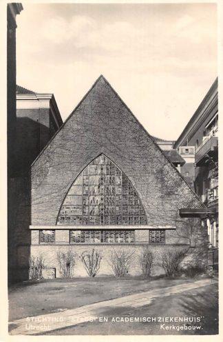 Ansichtkaart Utrecht Stichting Stads- en Academisch Ziekenhuis Kerkgebouw kerk 1938 HC2495