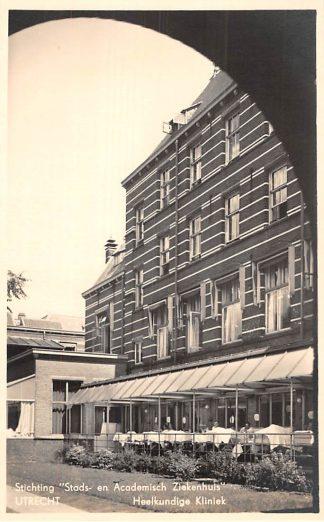 Ansichtkaart Utrecht Stads- en Academisch Ziekenhuis Heelkundige Kliniek 1938 HC2498