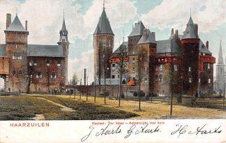 Ansichtkaart Haarzuilens Kasteel ter Haar Achterzijde met kerk HC2509