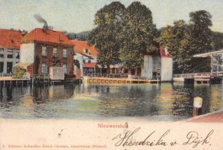 Ansichtkaart Nieuwersluis Rijn met Tol brug 1905 HC2515
