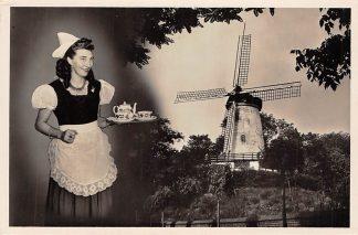 Ansichtkaart Rhenen Groeten uit De Panoramamolen 1956 Molen Reclame HC2520