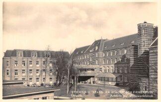 Ansichtkaart Utrecht Stichting Stads- en Academisch Ziekenhuis Achterzijde Vrouwenkliniek 1938 HC2540