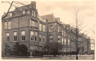 Ansichtkaart Utrecht Stads- en Academisch Ziekenhuis Voorzijde Psych. Neurol. 1938 HC2542
