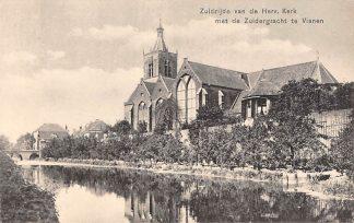 Ansichtkaart Vianen Zuidzijde van de Hervormde Kerk met de Zuidergracht HC2550
