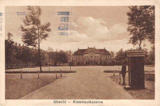 Ansichtkaart Utrecht Kromhout kazerne 1918 Militair HC2558