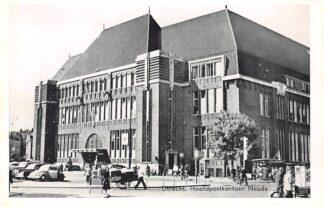 Ansichtkaart Utrecht Hoofd Postkantoor Neude Auto Viskraam HC2560
