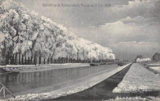 Ansichtkaart Vianen Gezicht op de Kanaallaan op 11 Jan. 1908 HC2563