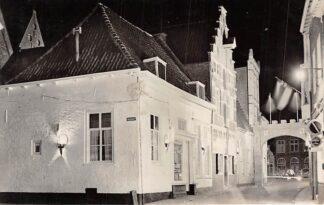 Ansichtkaart Amersfoort Lavendelstraat Feestverlichting 700 jaar bestaan 1959 HC2576