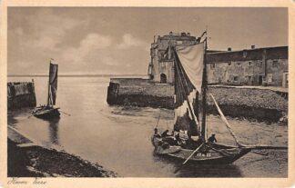 Ansichtkaart Veere Haven met vissers schip Arnemuiden 35 1934 HC2605