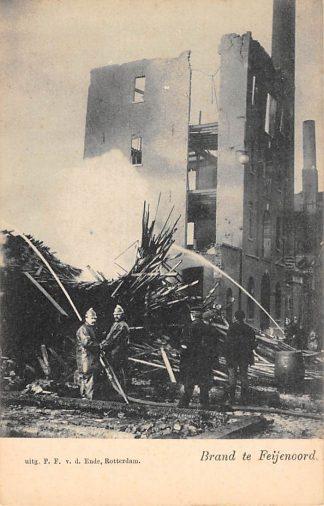Ansichtkaart Rotterdam Brand te Feijenoord v.d. Lugt 1902 HC2610