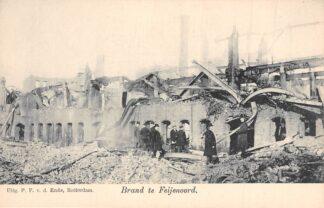 Ansichtkaart Rotterdam Brand te Feijenoord v.d. Lugt 1902 HC2616