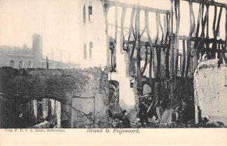 Ansichtkaart Rotterdam Brand te Feijenoord v.d. Lugt 1902 HC2617