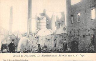 Ansichtkaart Rotterdam Brand te Feijenoord v.d. Lugt 1902 De Machinekamer HC2619