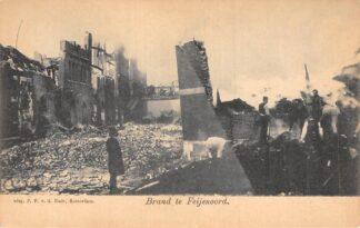 Ansichtkaart Rotterdam Brand te Feijenoord v.d. Lugt 1902 HC2620