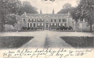 Ansichtkaart Baarn Huize Groeneveld 1906 HC2628