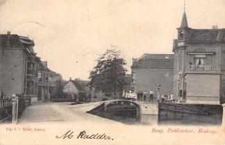 Ansichtkaart Boskoop Brug Postkantoor 1903 HC2637