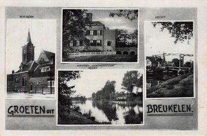 Ansichtkaart Breukelen Vecht Kasteel Gunthersteun Ned. Hervormde Kerk HC2666