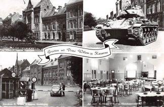 Ansichtkaart Amersfoort Prins Willem III Kazerne Hoofdingang Tank Kantine Militair HC2678