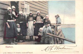 Ansichtkaart Marken Vissers gezin in klederdracht HC2703