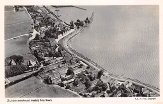 Ansichtkaart Marken Zuiderzee kust bij Marken 1927 KLM Luchtfoto 27-175 HC2722