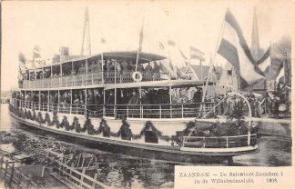 Ansichtkaart Zaandam De Salonboot Zaandam I in de Wilhelmina sluis Nauta 1408 HC2727