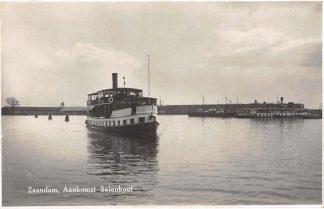 Ansichtkaart Zaandam Aankomst Salonboot Zaandam I Binnenvaart schepen HC2728