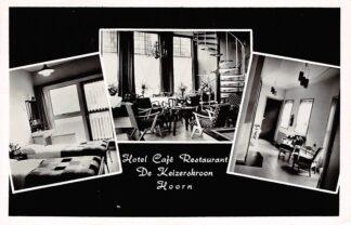 Ansichtkaart Hoorn Reclame Hotel Cafe Restaurant De Keizerskroon 1961 HC2746