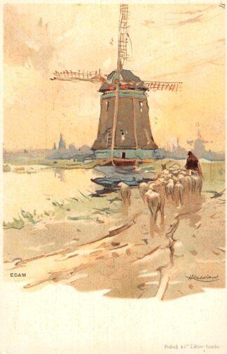 Ansichtkaart Edam voor 1906 Molen HC2785