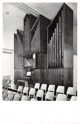 Ansichtkaart Amsterdam Gereformeerde Woestduin kerk Flentrop Orgel HC2790