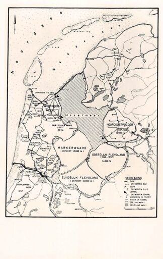 Ansichtkaart IJsselmeer Afsluiting en gedeeltelijke droogmaking Zuiderzee 1956 Afsluitdijk HC2794