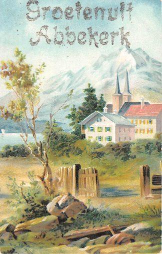 Ansichtkaart Abbekerk Groeten uit voor 1906 HC2797